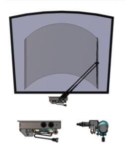 Single Pantograph Rail Windshield Wipers