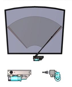 Single Pendulum Rail Windshield Wipers